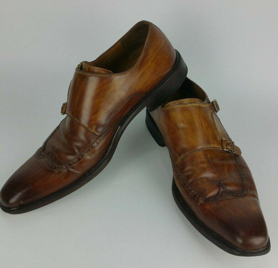 Magnanni Dimensione 13 Doppio Monk Straps Loafer Ali Dress  scarpe Marronee Leather  Sconto del 70%