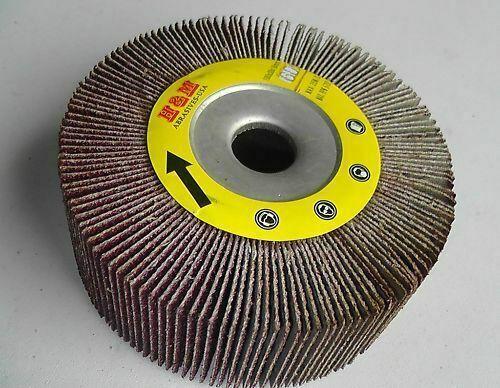 "2pcs 4-in Abrasive Flap sanding Wheels 4/""x1/""x 5//8/"" 60 Grit for Metal Wood etc."