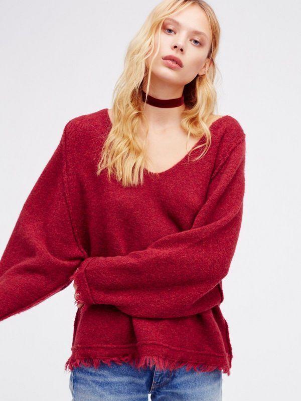 Free People Size XXS NWT Cozy Oversized Fringe Sweater  NEW Fringe Cuff