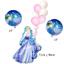 Disney Princess Cinderella Belle Happy Birthday Girls Foil Balloons Set Party