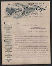 OFFENBACH, Brief 1902, Maschinen-Fabrik Heinrich Vogel