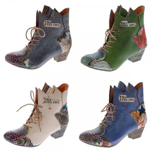 Donna Boots Pelle Vera Stivaletti Stivali 7707 Variare Tma Motivo Scarpe dqzFvw