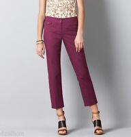 Ann Taylor Loft Marisa Cropped Modern Cotton Pants With Stretch Size 0