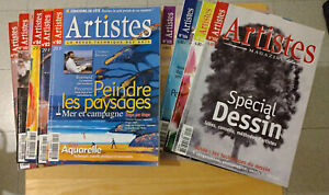 Lot de 9 revues Artistes
