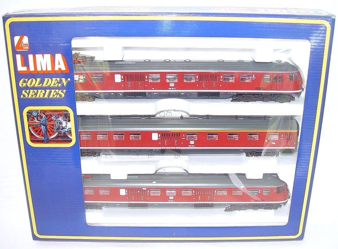 Lima DC HO 1:87 DB ETR-430 rosso/Gris Electric MULTIPLE 3-UNIT Train Set MIB`85