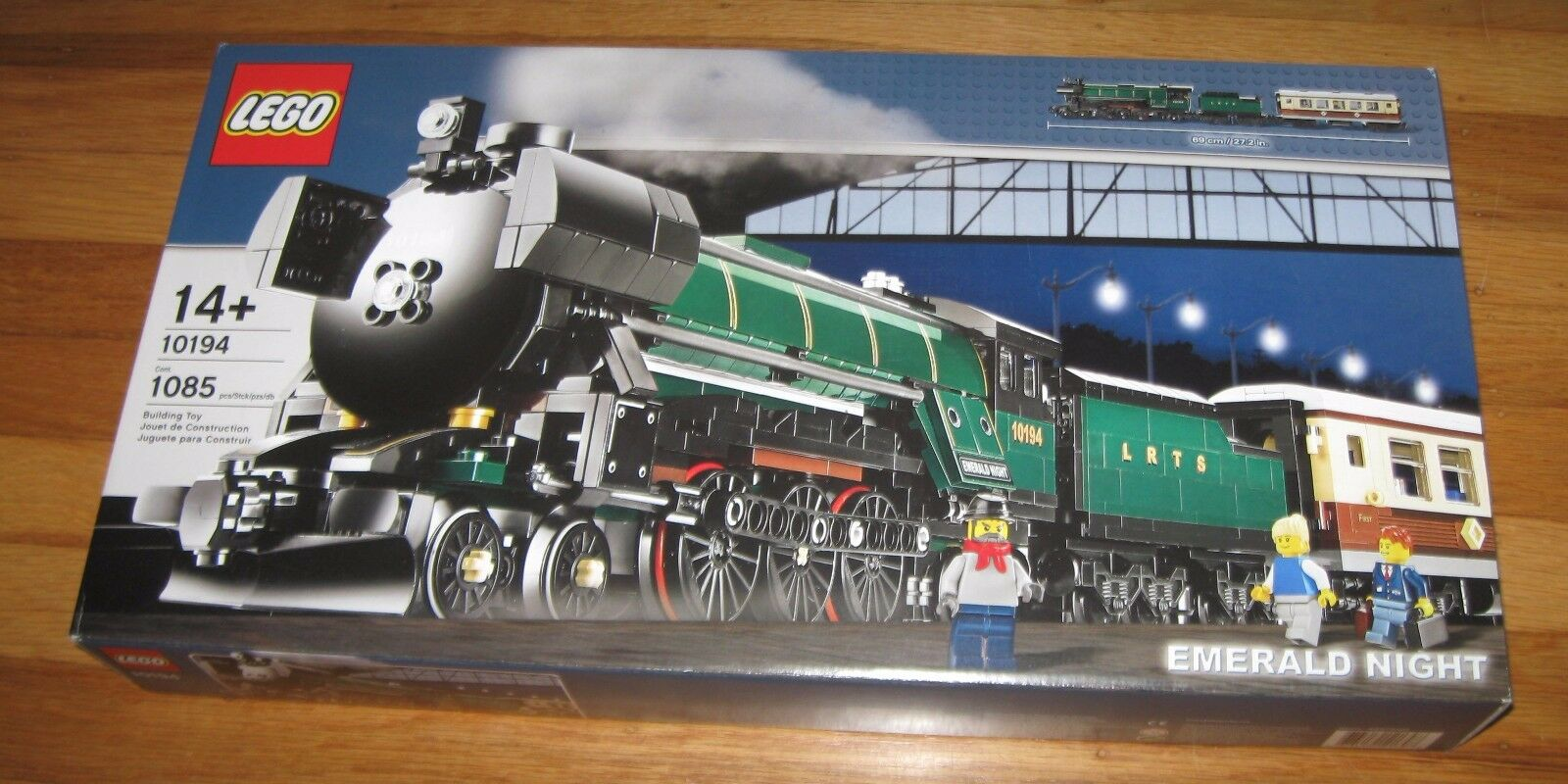 LEGO NY SEALD 10194 Emerald Night Train Set Skapare Motor Tender bil Pensionerad