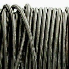 DARK GREY vintage style lighting textile fabric electrical cord cloth cable