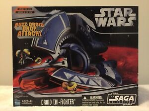STAR-WARS-The-Saga-Collection-Droid-Tri-Fighter-2006-Buzz-Droid-Bombs-MIB