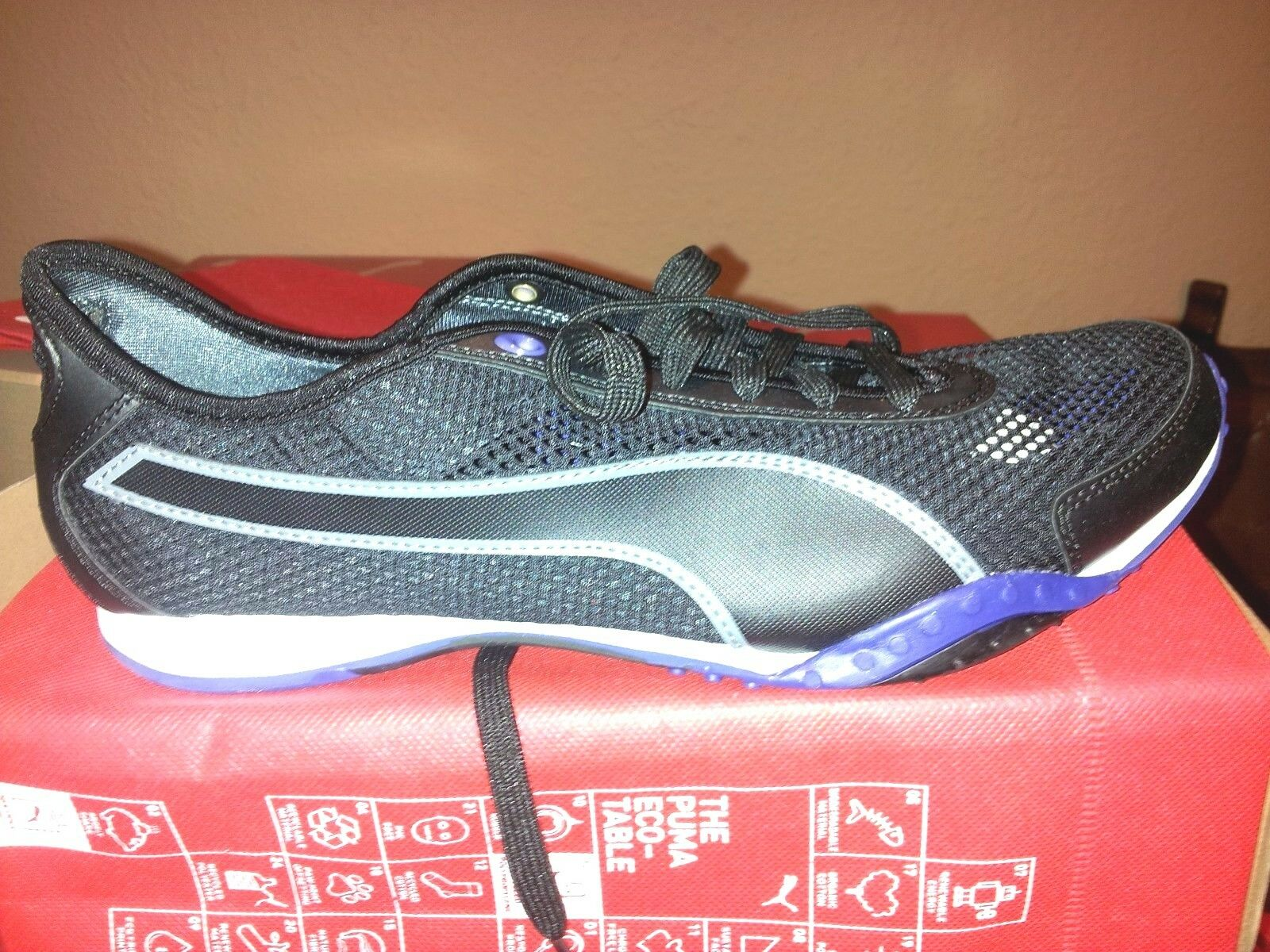 PUMA Asha Cutout Women's Running shoes Black Clematis bluee NIB 186502 Size 9