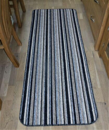 kitchen caravan Grey Stripe Carpet Runner  hall runner 66cm x 180cm