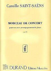 Brillant Saint-saens Morceau De Concert Op94 Horn & Piano-afficher Le Titre D'origine Service Durable