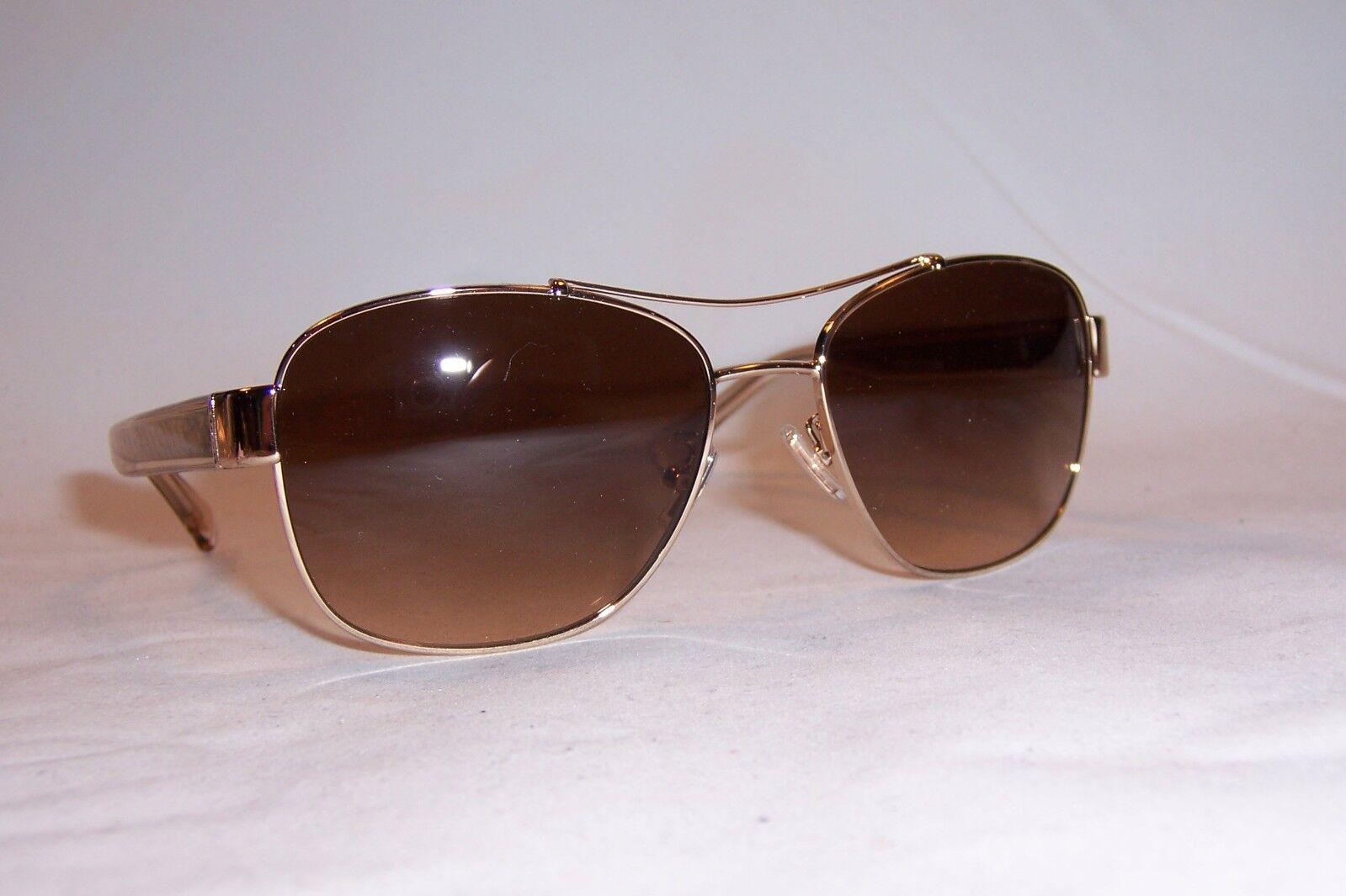 COACH HC 7059 92792C Aviator Sunglasses Gold /& Tortoise ~ Light Smoke Gradient