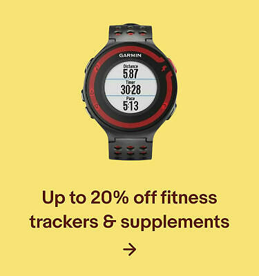 Up to 20% off fitness trackers & supplements