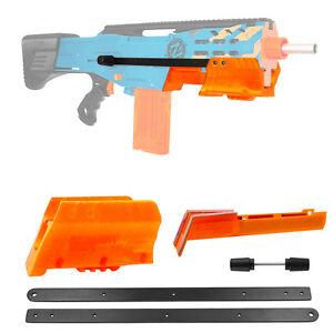Worker-MOD-F10555-Pump-Kit-Tac-Orange-3D-Print-Grip-for-Nerf-LongShot-Modify-Toy