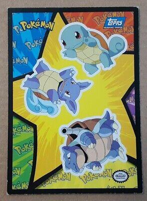 /& Blastoise! Wartortle Non-Holo 1999 Topps Pokemon Cards Squirtle
