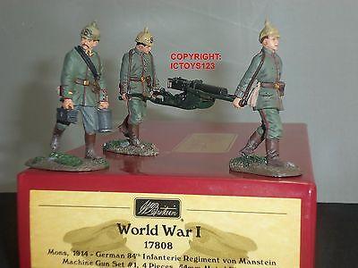 BRITAINS 17808 GERMAN 84TH INFANTRY MACHINE GUN METAL TOY SOLDIER FIGURE SET 1