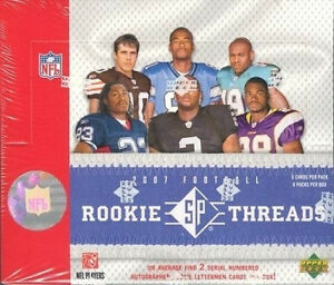 2007-UPPER-DECK-SP-ROOKIE-THREADS-HOBBY-FOOTBALL-BOX-PETERSON