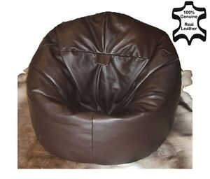 Xl Real Leather Beanbag Leather Bean Bag Chair Real