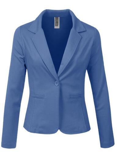 NE PEOPLE Women Basic One Button Long Sleeve Suit Blazer Office Jacket NEWJ113