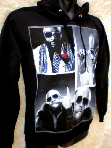 "SWEAT NOIR CAPUCHE /""RICK ROSS/"" ."