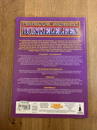 Guter Zustand Warhammer Fantasy Softcover ARMEEBUCH DUNKELELFEN Deutsch