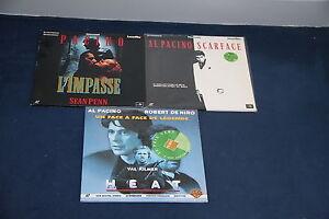 Lot-Al-Pacino-3-Laserdisc-PAL-VF-Heat-Scarface-L-039-Impasse-De-Niro-Val-Kilmer