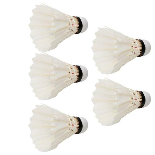 5PCS Feather Badminton Balls Shuttlecocks for Outdoor Indoor Training Accessory