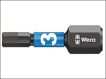 WER057603 Wera 840//1 Impaktor Insert Bit Hex-Plus 3mm x 25mm Box 10