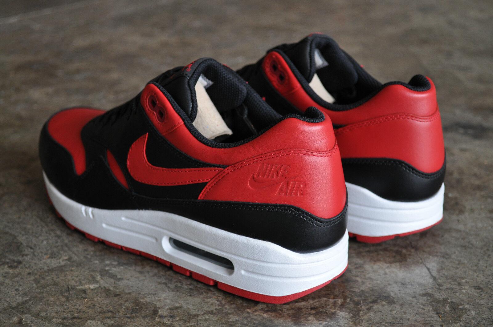 Nike AIR MAX 1 allevati PRM QS-Nero Bianco-VARSITY Bianco-VARSITY Bianco-VARSITY Rosso 8fb2e7