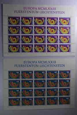 Komplett Gestempelt N6 Liechtenstein 579/580 Kleinbogensatz 03