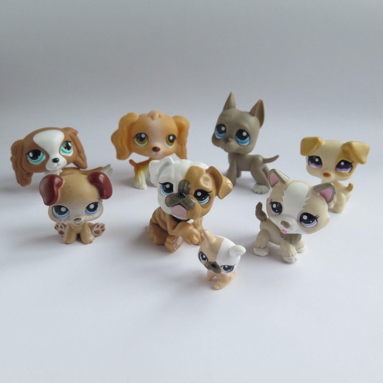 Littlest Pet Shop Lote 8 perros  79 143 184 1110 1817 1825 3587 3588 Lps Auténtico