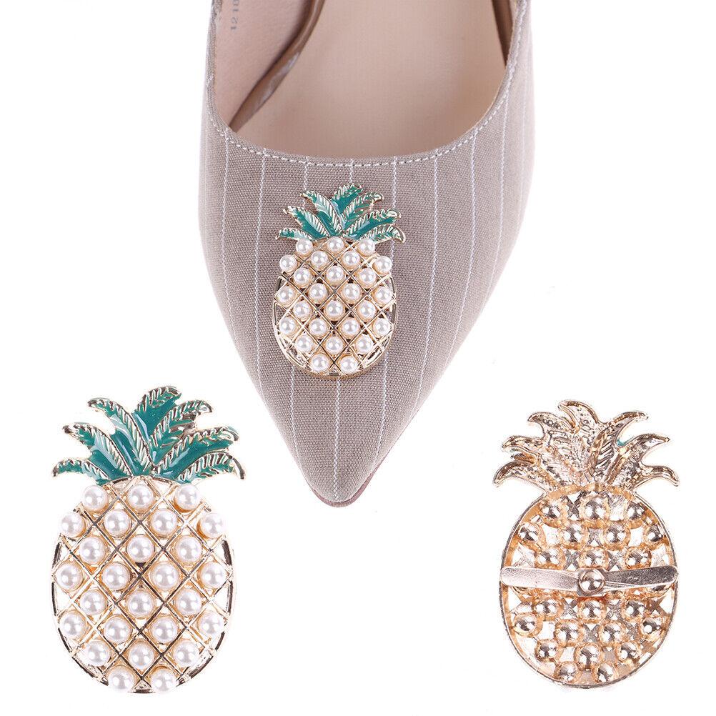 1Pc Shoe charm faux pearl metal bridal women prom shoes clip buckle decor_hg