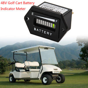 Golf-Cart-Accessories-48-Volt-LED-Battery-Indicator-Meter-Gauge-48v-Club-Car-gx