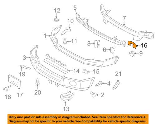 FORD OEM Front Bumper-Repair Bracket 7L1Z17N775A
