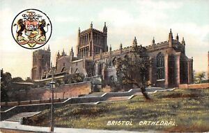 POSTCARD-BRISTOL-Cathedral-Coat-of-Arms