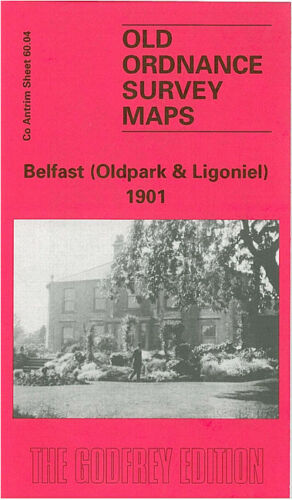 OLD ORDNANCE SURVEY MAP BELFAST OLDPARK /& LIGONIEL 1901 ST MARKS CHURCH