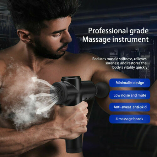 LCD Shaping Body Massage Gun Muscle Deep Tissue Relaxing Therapy Massager UK