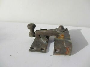 Victorian-Brass-Sash-Window-Latch-Lock-Catch-Fastener-Old-Antique-Vintage-Bronze