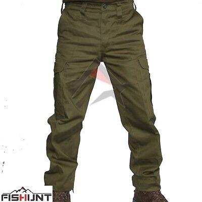 NUOVI Pantaloni Da Combattimento Heavy Duty Combat/'S PANTALONI CARGO Militare Verde Militare