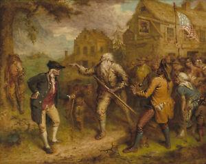 Painting-Quidor-Return-Of-Rip-Van-Winkle-Xxl-Wall-Canvas-Art-Print