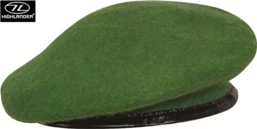 Mens Army Combat Military Beret Cap Hat Black Red Green Blue Sand Wool S-XL New