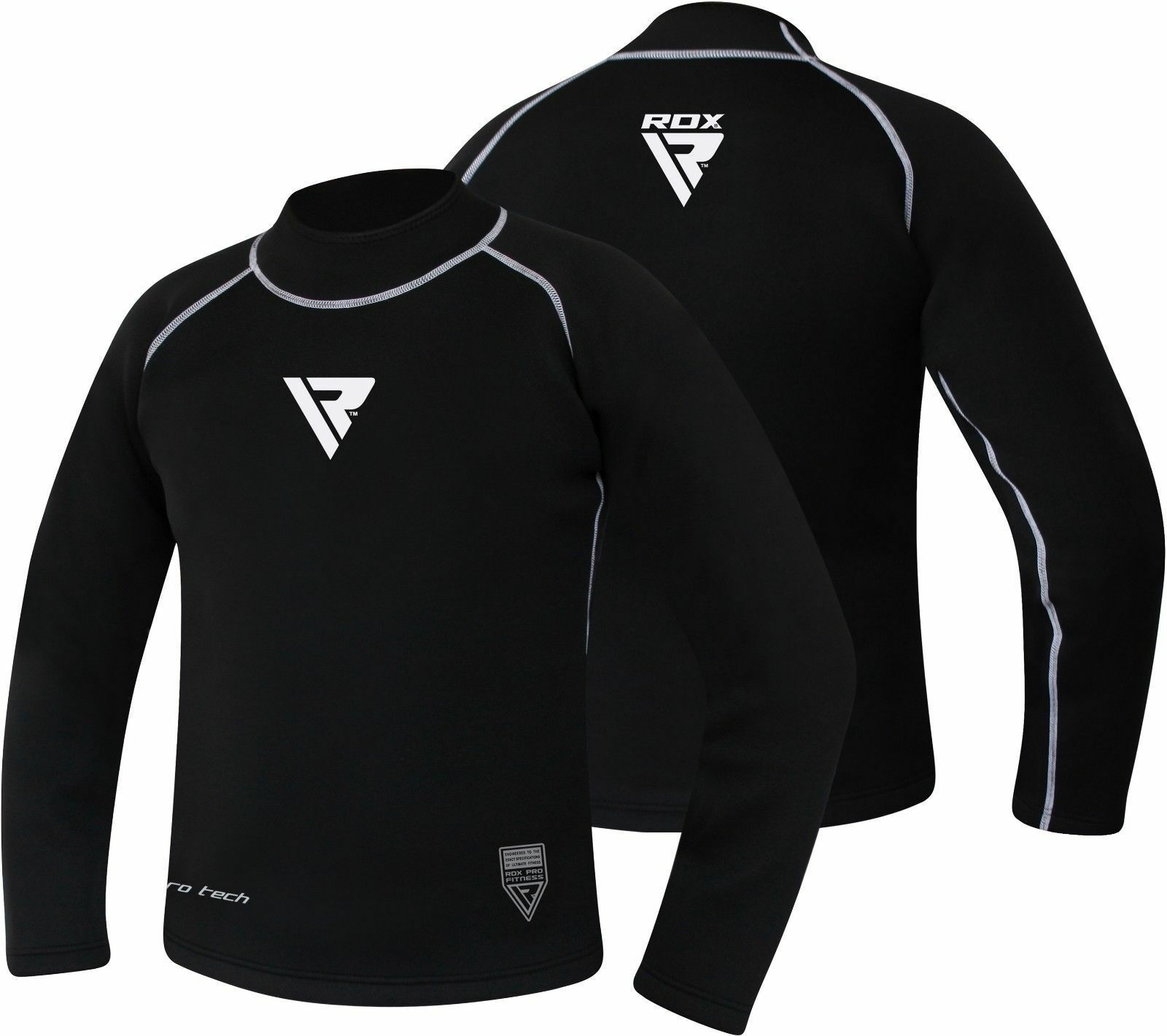 RDX Swimwear Rash Guard Surf Base Layer Long Sleeve Compression Shirt Sport