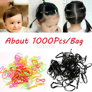 1000pcs Lot Small Elastic Hair Bands Braids Poly Rubber Plaits ... 333a904fcdd