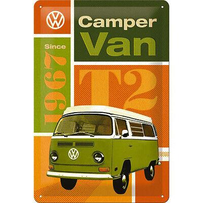 VW Volkswagen T2 camping-car Bulli affiche publicité déco plaque 1581