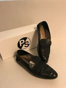 PAUL-SMITH-Women-039-s-Black-Leather-FREDA-Loafers-Size-38-US-8-MSRP-290