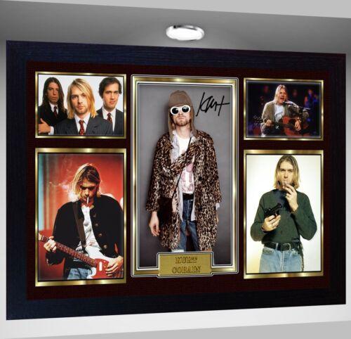 New Kurt Cobain Nirvana Framed SIGNED Photo pre-PRINT POSTER Perfect gift #2