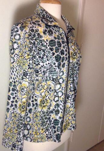 LAURA ASHLEY Wearable Art long Sleeve Shiny Jacket