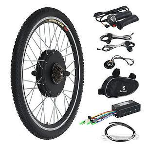 Electric Bicycle Ebike 26 Inch Conversion Kit Hub Motor Rear Wheel 36 Volt 500 Watt