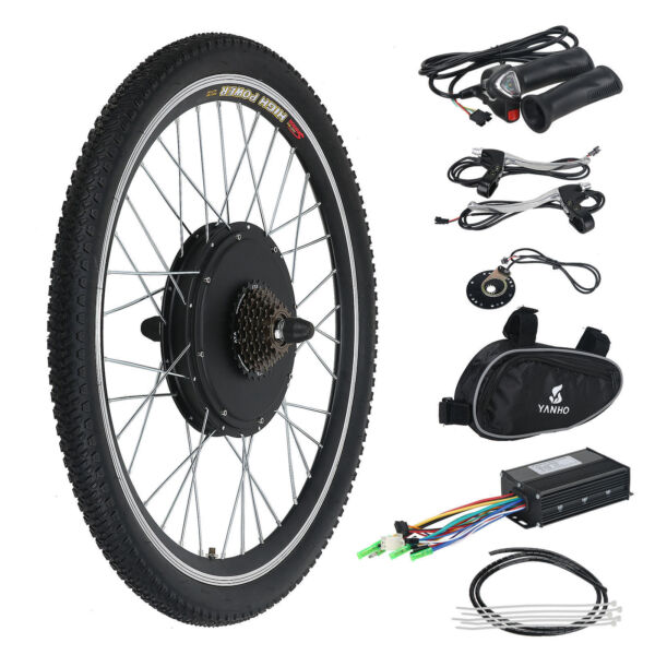 Electric Bicycle Ebike 26-Inch Conversion Kit Hub Motor