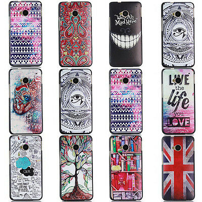 New Hot  Fashion Pattern PC Hard Cover Case Skin For HTC One M8 M7
